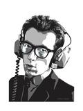 Elvis Costello Giclée-Druck von Emily Gray