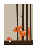 Little Deer Giclee Print by Dicky Bird