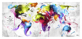 Abstract Map - World Giclee Print