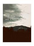 Muir Mountain Giclee Print by Leah Flores