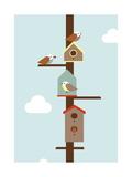 Birdhouses Giclee Print by Dicky Bird