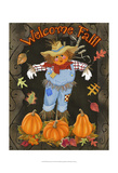 Fall Scarecrow I Prints by Sue Ditzian