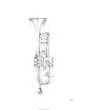 Trumpet Sketch Limited Edition by Ethan Harper