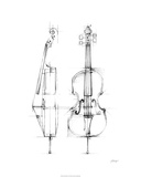 Cello Sketch Limited Edition by Ethan Harper