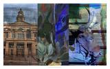 Texas Steer Collage Giclee Print by Sisa Jasper