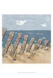 Beach Scene Triptych II Posters by Jade Reynolds