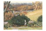 Watercolor Garden III Art by Dianne Miller