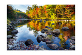 Colorful Trees Along the Swift River New Hampshire Photographic Print by George Oze