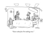 """Guess what face I'm making now."" - New Yorker Cartoon Premium Giclee Print by Ken Krimstein"