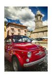 Little Red Cinquecento Photographic Print by George Oze
