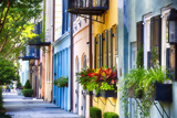 Rainbow Row I, Charleston South Carolina Fotodruck von George Oze