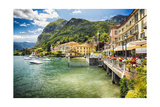 Lakeside Terrace Menaggio, Lake Como, Italy Photographic Print by George Oze