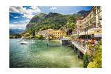 Lakeside Terrace Menaggio, Lake Como, Italy Photographic Print by George Oze