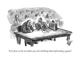 """""""Let's focus on the case before you start thinking about befriending a gua - New Yorker Cartoon Premium Giclee Print by Frank Cotham"""