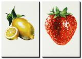 Lemon Strawberry Art by Sydney Edmunds