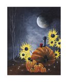 Midnight In The Pumpkin Patch Photographic Print by Shawna Erback