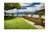 Villa Garden View On Lake Como, Italy Photographic Print by George Oze