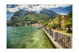 Lakeshore Scenic, Menaggio, Italy Photographic Print by George Oze