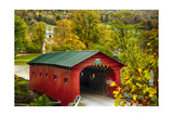 Scenic Covered Bridg, Arlington, Vermont Photographic Print by George Oze