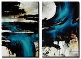 Turquoise Splash Kunst von Rikki Drotar