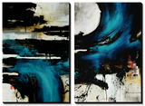 Turquoise Splash Prints by Rikki Drotar