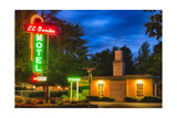 Napa Valley Motel Neon Sign Photographic Print by George Oze