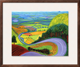Garrowby Hill Posters by David Hockney