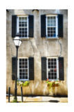 Charleston Windows And Lamp Post Photographic Print by George Oze