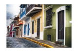 Old San Juan Street Charm I Photographic Print by George Oze