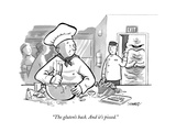 """The gluten's back. And it's pissed."" - New Yorker Cartoon Premium Giclee Print by Benjamin Schwartz"