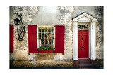Charleston Red Door And Shutters Photographic Print by George Oze