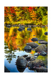 Fall Colors Reflected in a River Photographic Print by George Oze