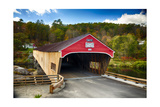 Bath Covered Bridge, New Hampshire Photographic Print by George Oze