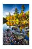 Swift River Autumn Reflections, New Hampshire Photographic Print by George Oze