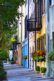 Rainbow Row III Charleston, South Carolina Fotodruck von George Oze