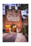 Medieval City Gate At Night, Lazise, Italy Photographic Print by George Oze