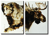 Brown Bear and Moose Prints by Sydney Edmunds