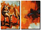 Fox Trost and Red Tail Plakater af Sydney Edmunds