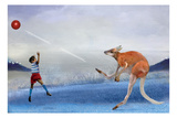 Kangaroo Kickball Photographic Print by Nancy Tillman