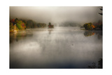 Morning Fog On A Vermont Lake In Autumn Photographic Print by George Oze