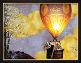 Sleep Balloon Framed Giclee Print by Nancy Tillman