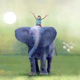 Elephant Ride Photographic Print by Nancy Tillman