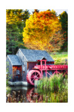 Little Red Grist Mill In Vermont Photographic Print by George Oze