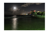Full Moon Over Condado, Puerto Rico Photographic Print by George Oze