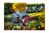 Little Grist Mill In Autumn Colors Photographic Print by George Oze