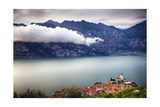 Medieval Town On Lake Garda, Malcesine, Italy Photographic Print by George Oze