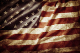 Closeup of Grunge American Flag Photographic Print by  STILLFX