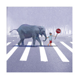 Elephant Crossing Photographic Print by Nancy Tillman