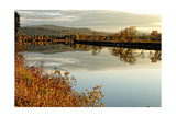 Connecticut River Tranquil Autumn Scenic Vista Photographic Print by George Oze