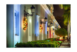 La Princesa at Night, San Juan, Puerto Rico Photographic Print by George Oze